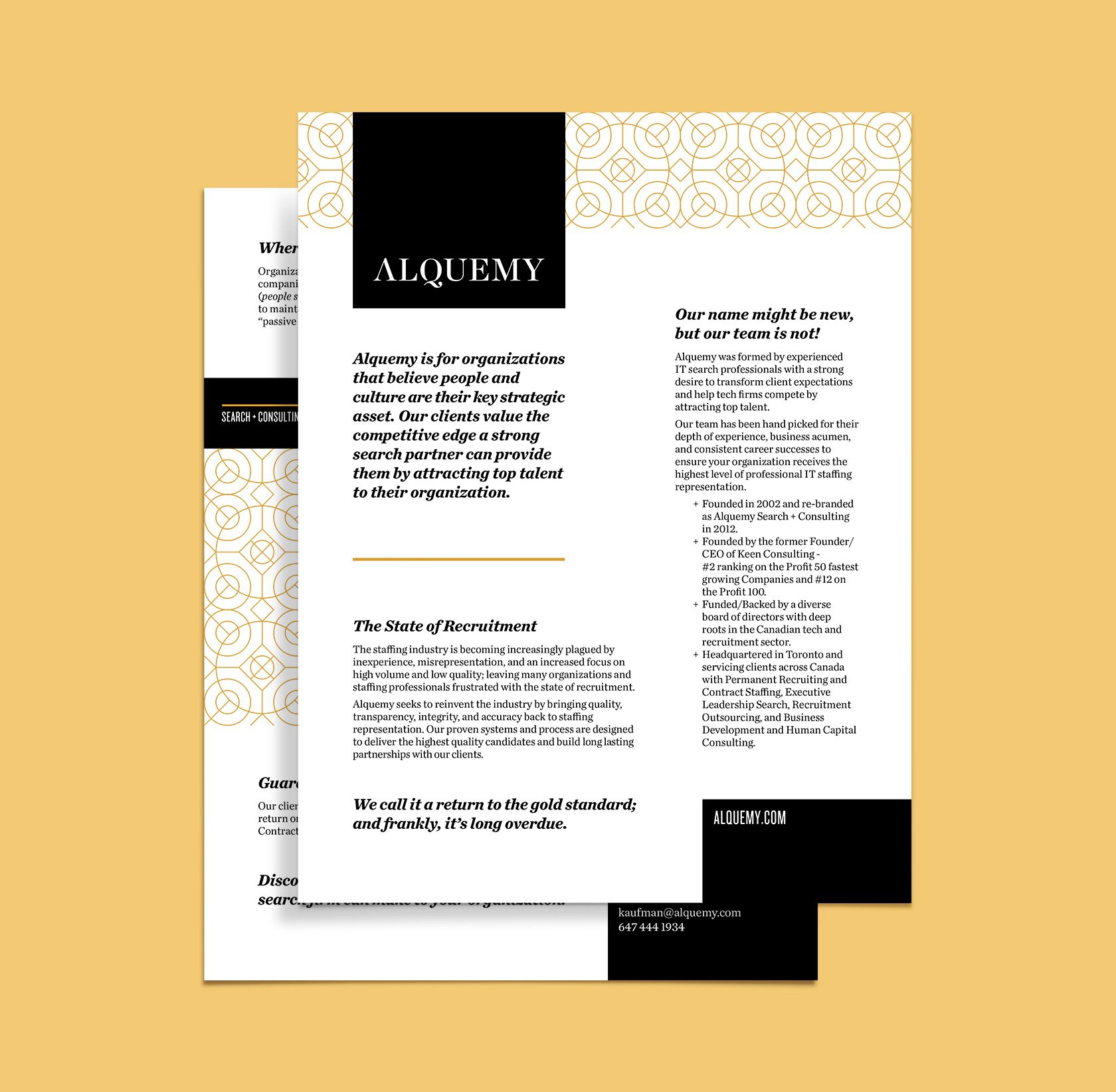 Alquemy Corporate Letterhead Design by Furia