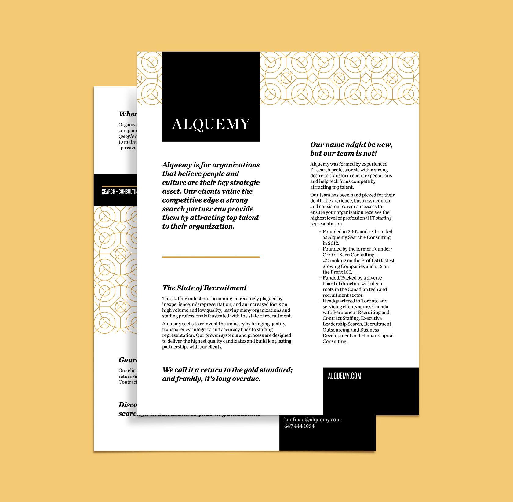 Alquemy Corporate Letterhead Design by Furia