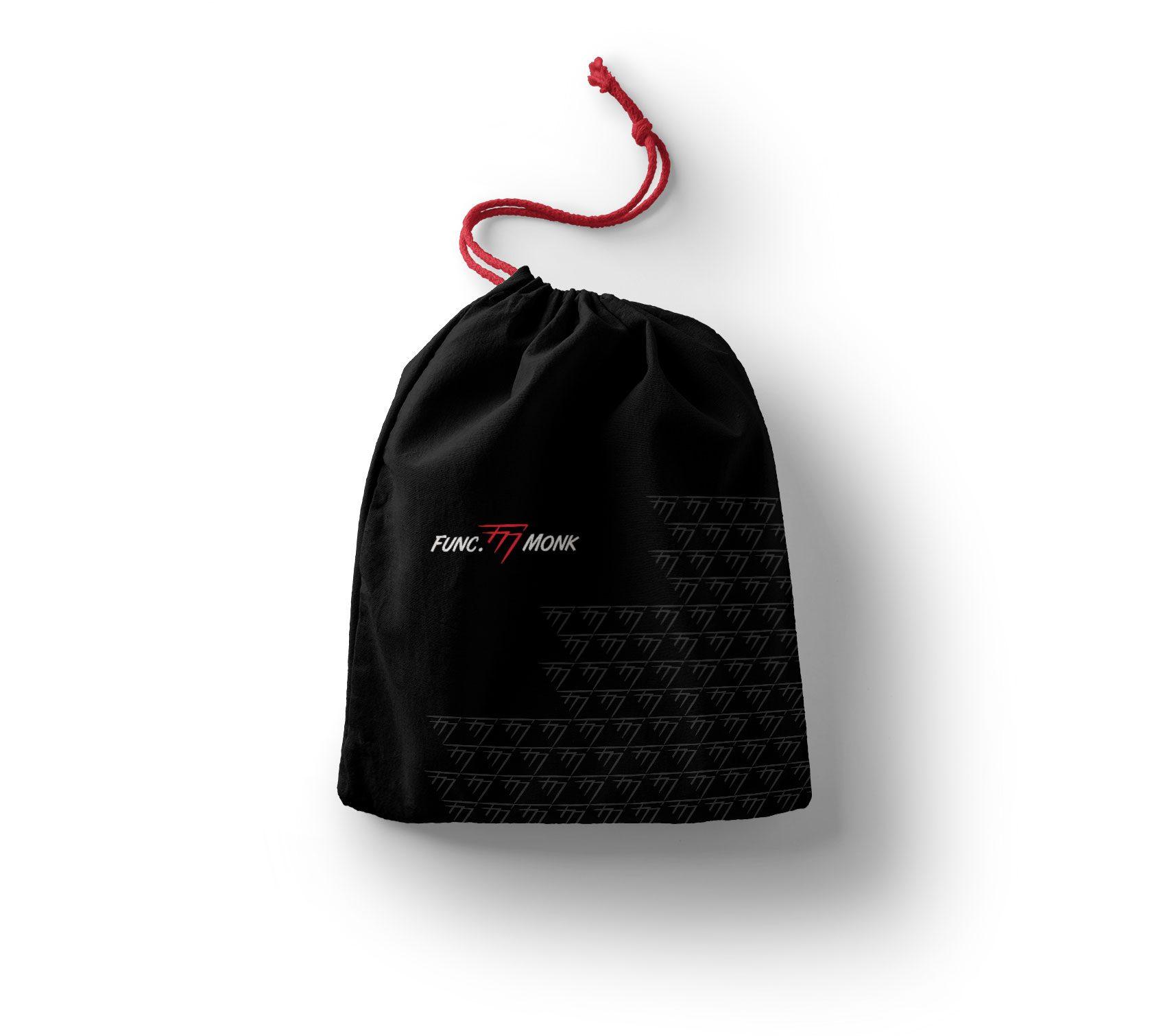Func Monk Merchandise Drawstring Bag Design by Furia