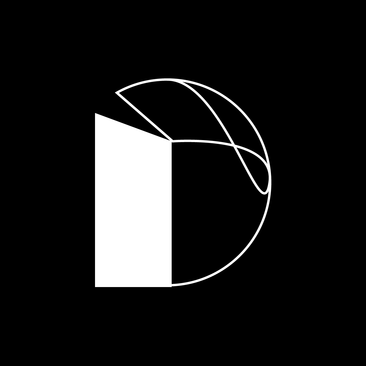 Letter D2 design by Furia