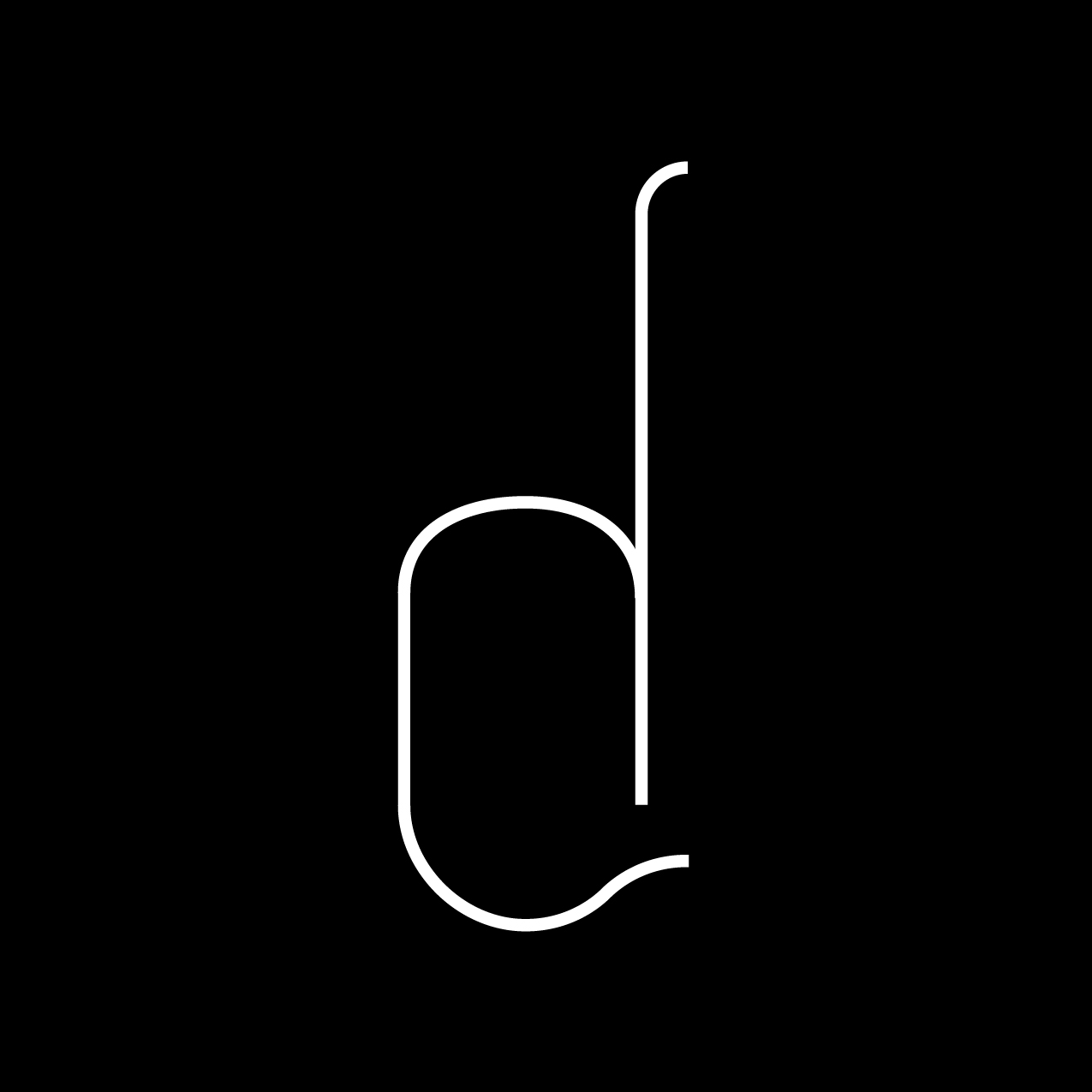 Letter D3 design by Furia
