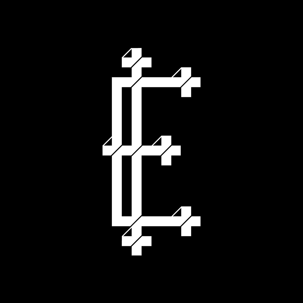Letter E3 design by Furia