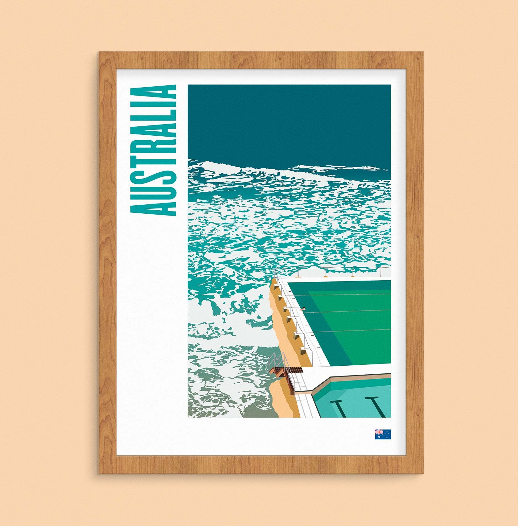 Travel Poster Illustration Australia by Furia