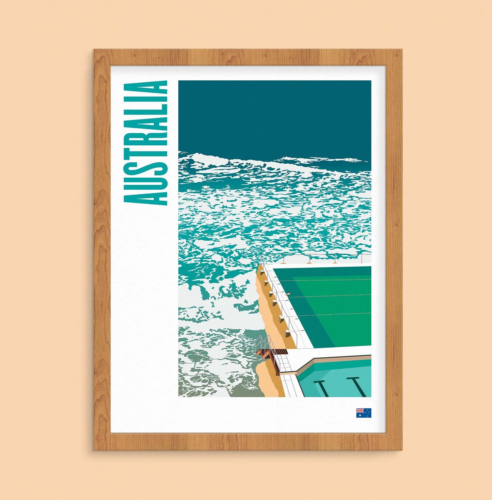 Travel Poster Illustration Australia by Furia