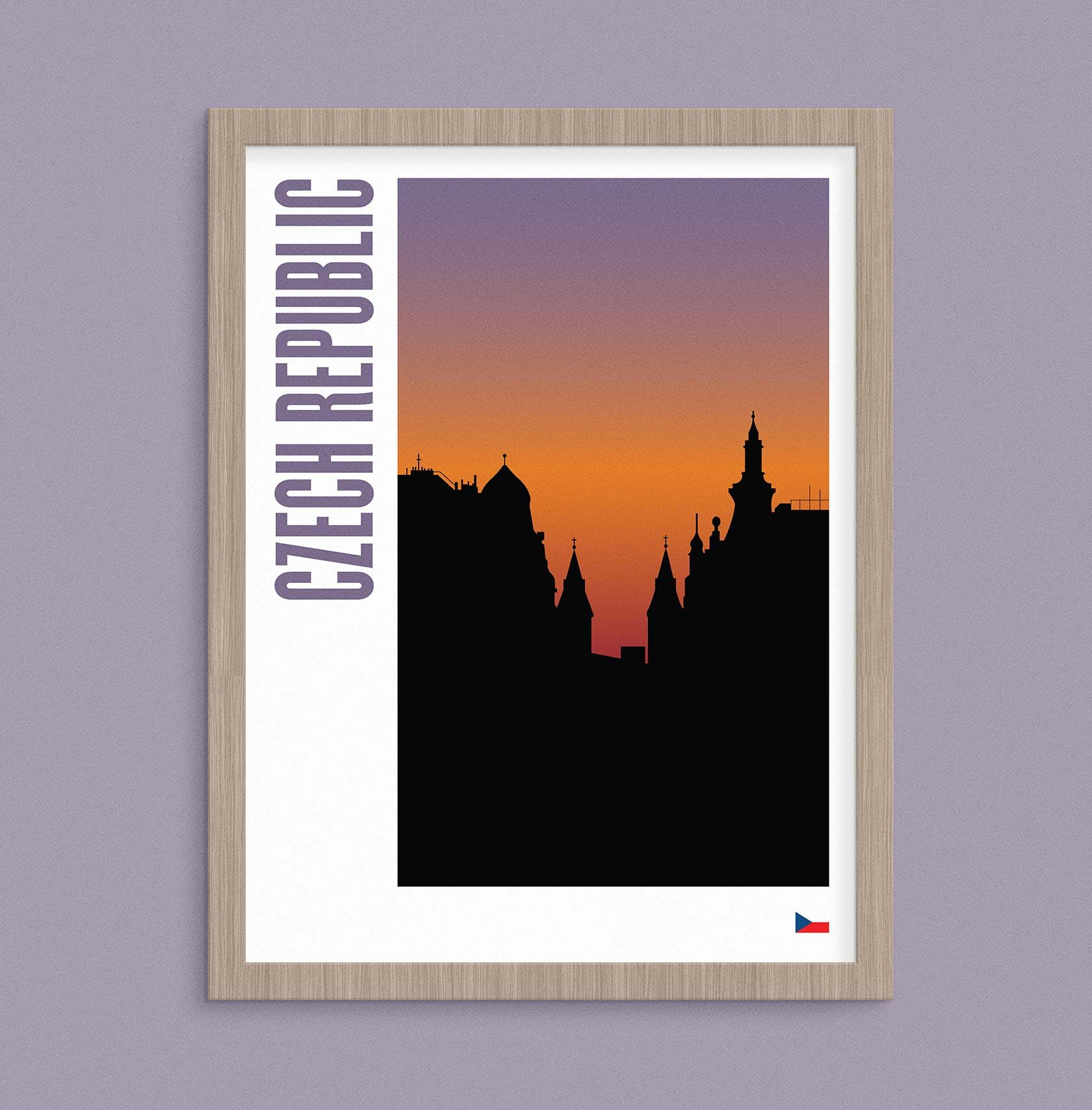 Travel Poster Illustration Czech Republic by Furia