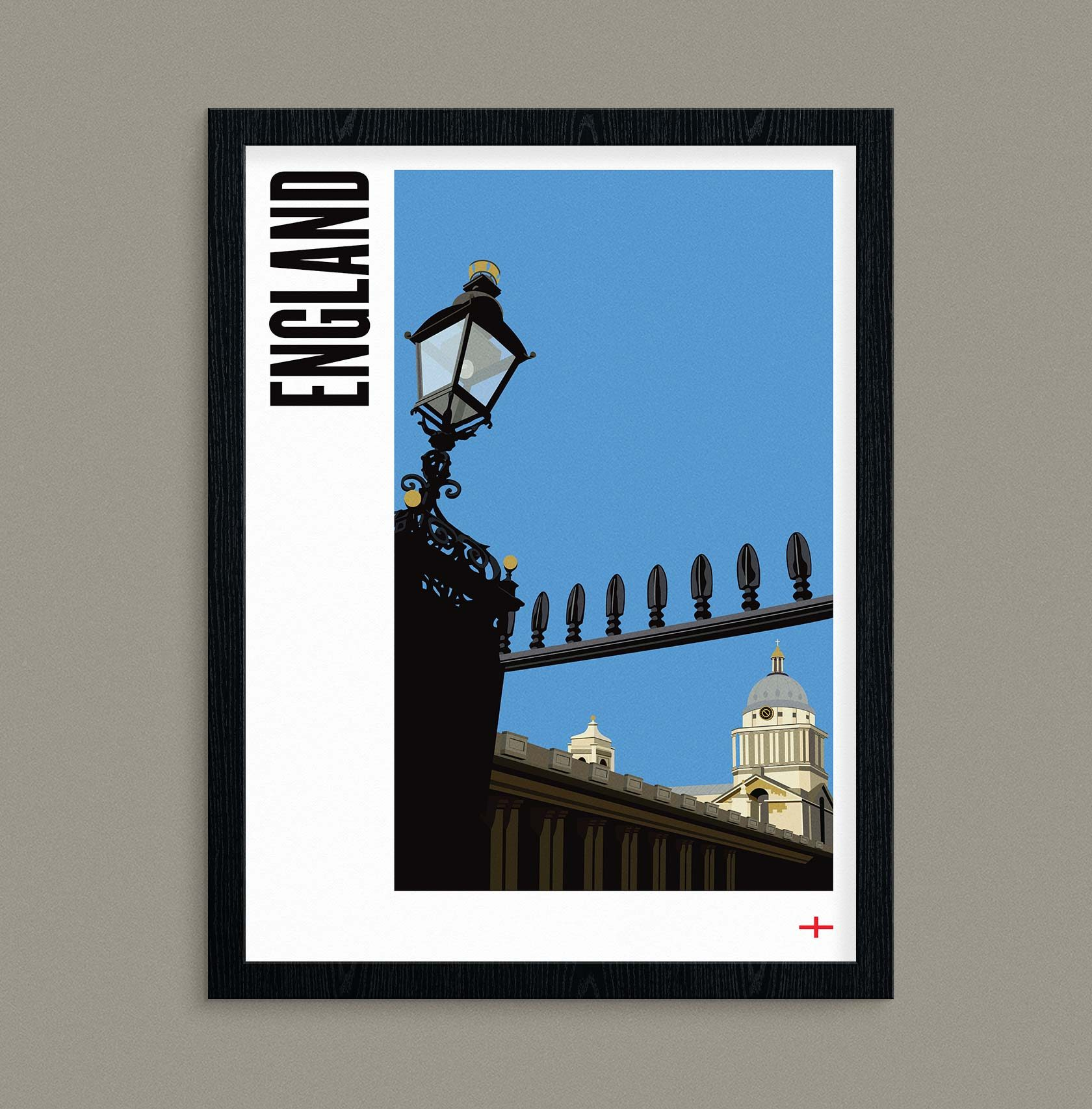 Travel Poster Illustration England by Furia