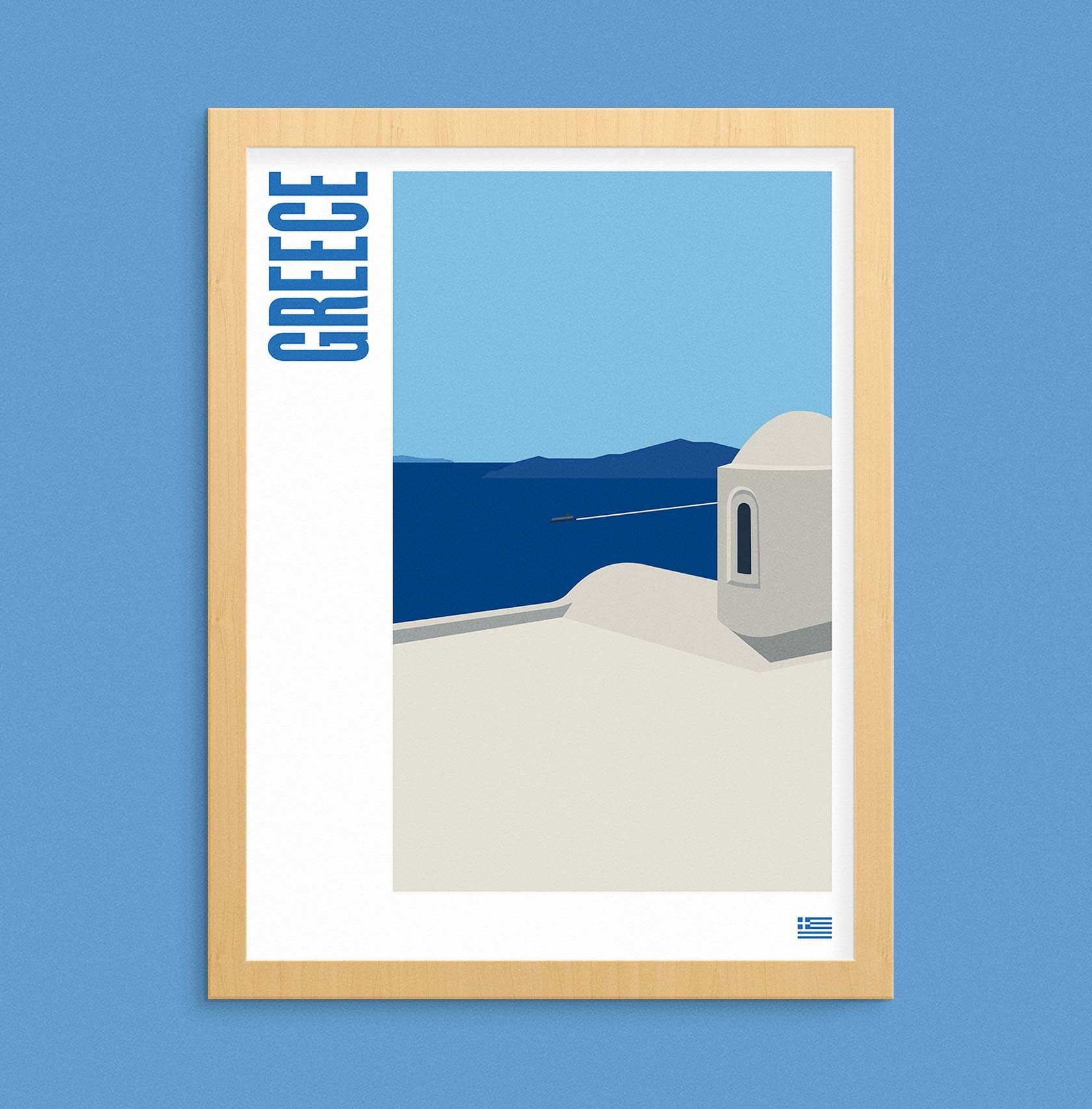 Travel Poster Illustration Greece by Furia