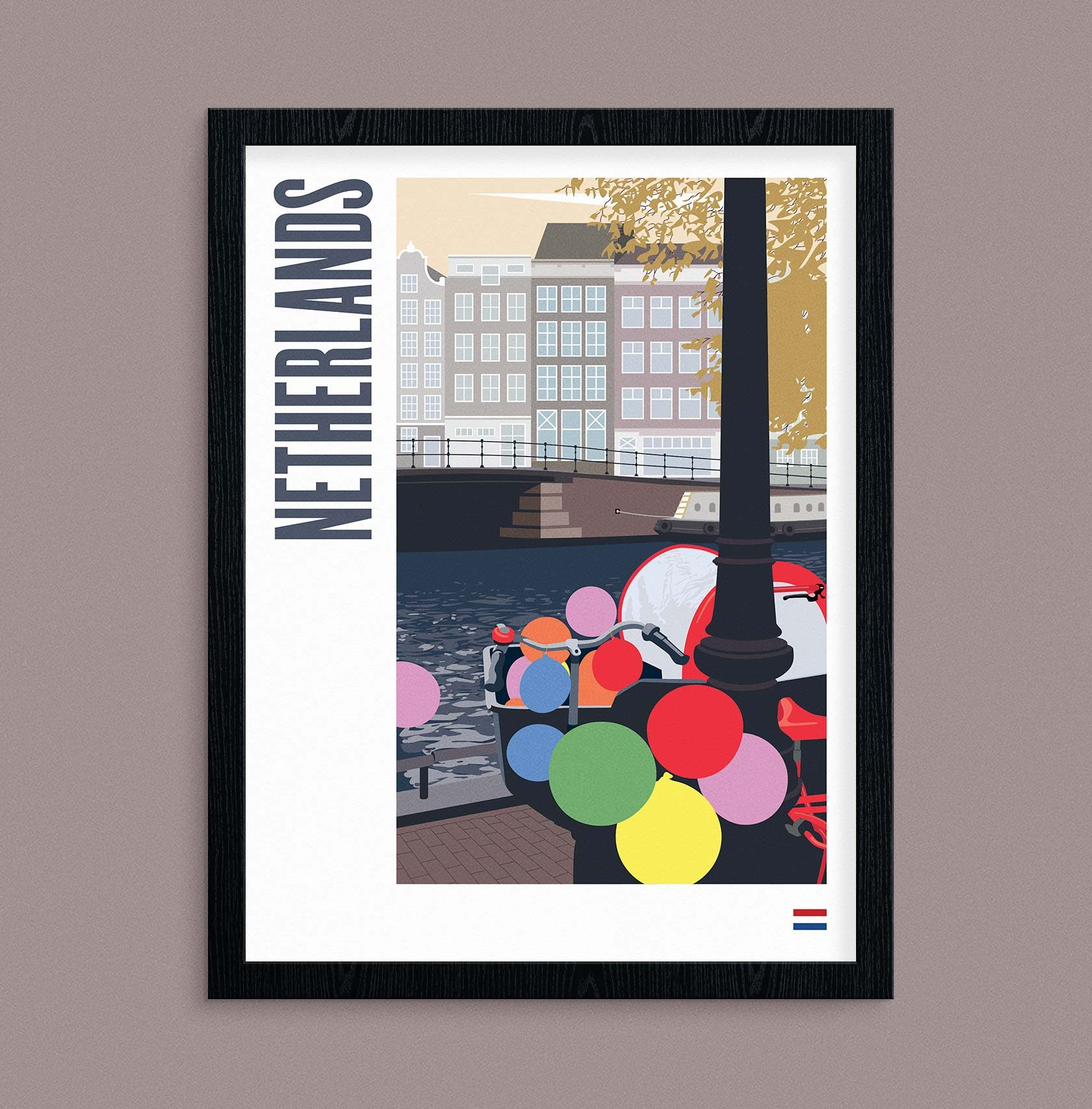 Travel Poster Illustration Netherlands by Furia