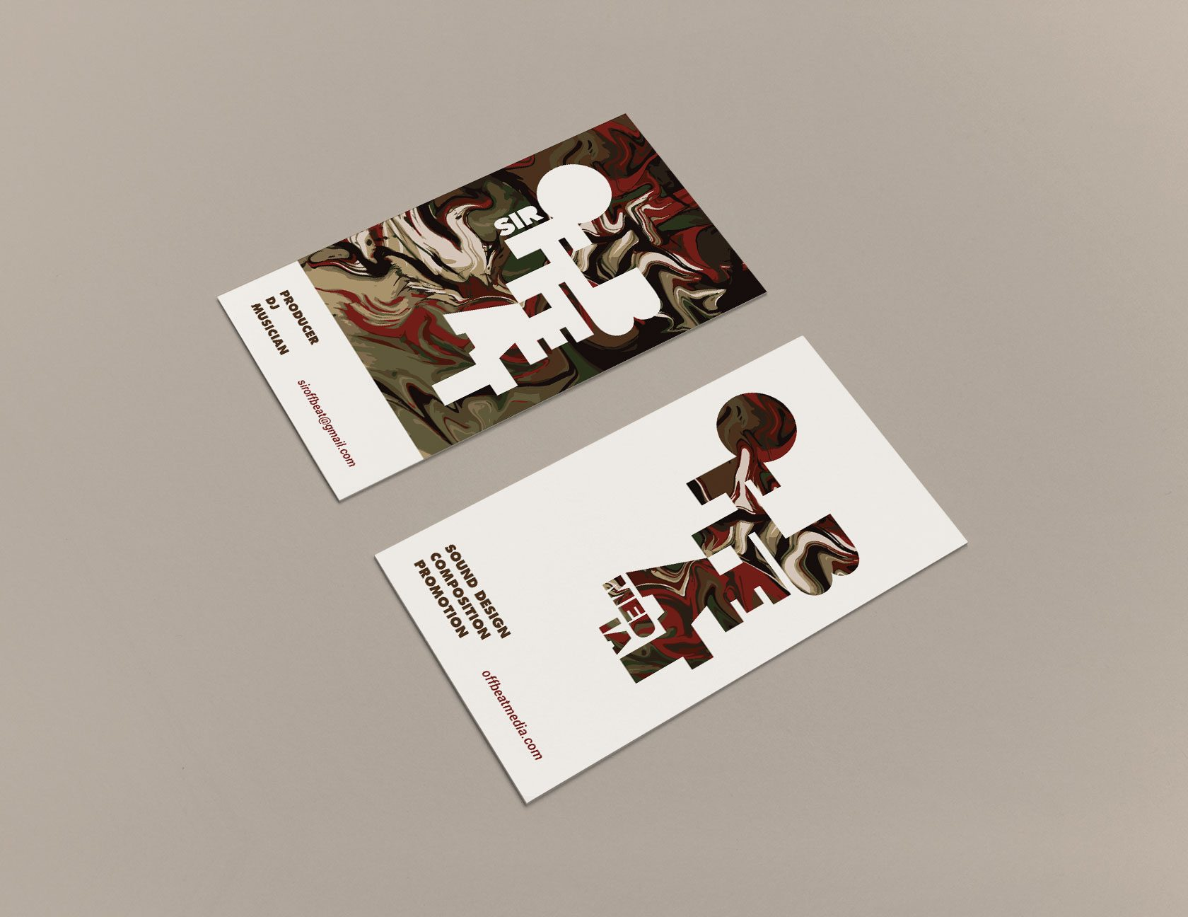 Sir Offbeat Business Card Design by Furia
