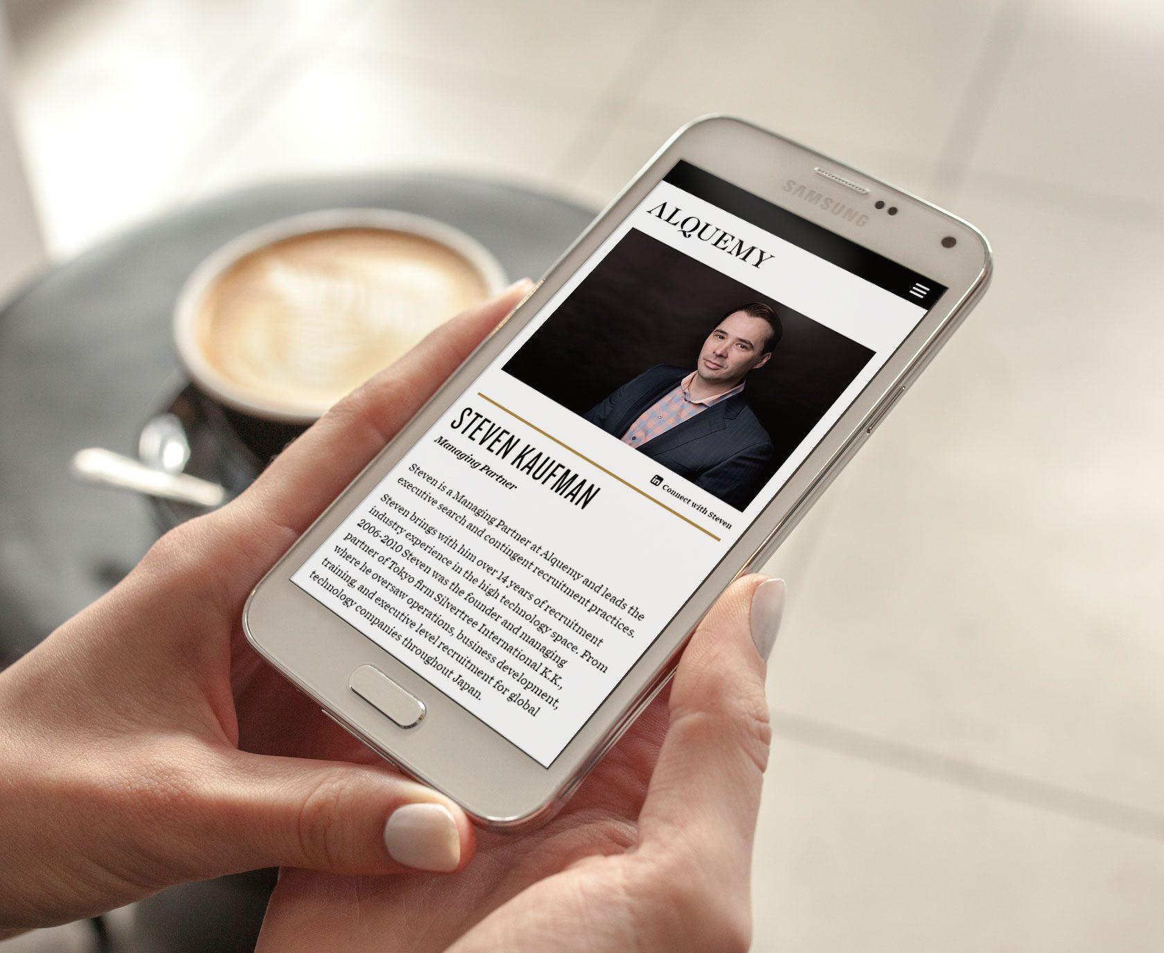 Alquemy Mobile Website Design and Development by Furia