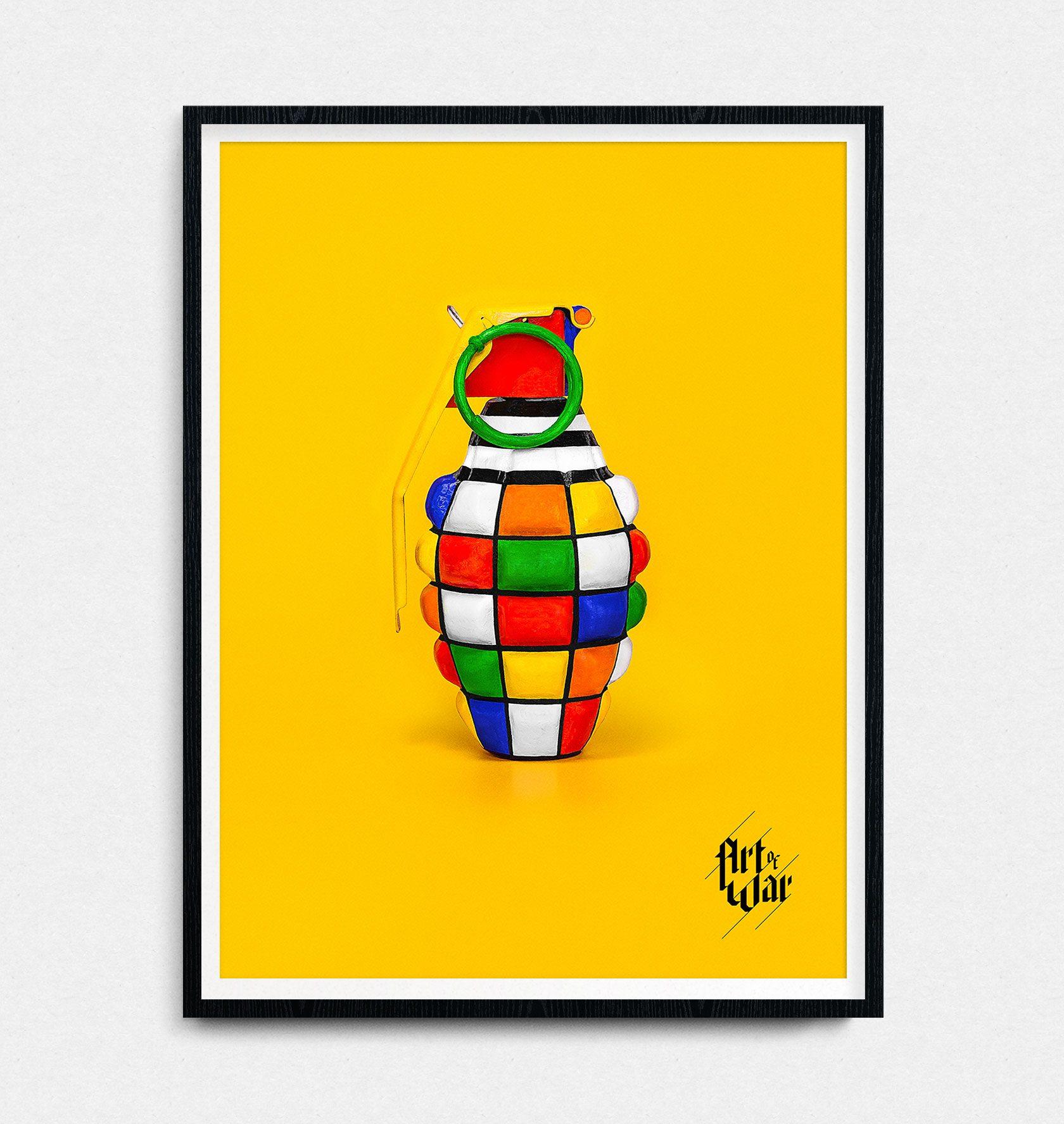Art of War Grenade Poster Design by Furia