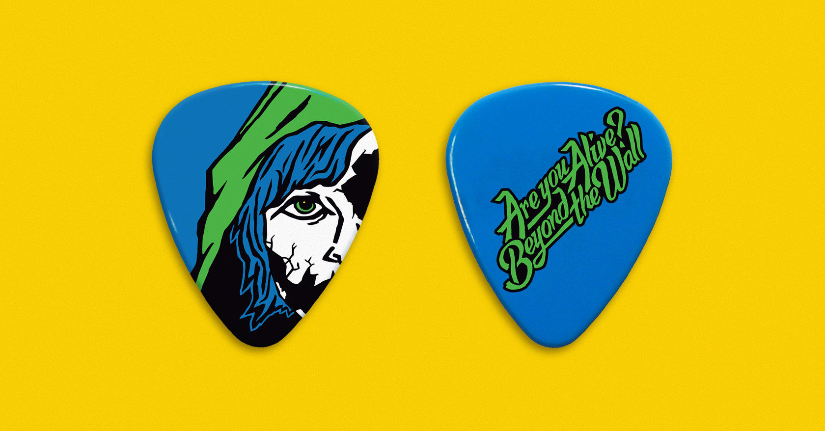 Beyond The Wall Guitar Pick Design by Furia