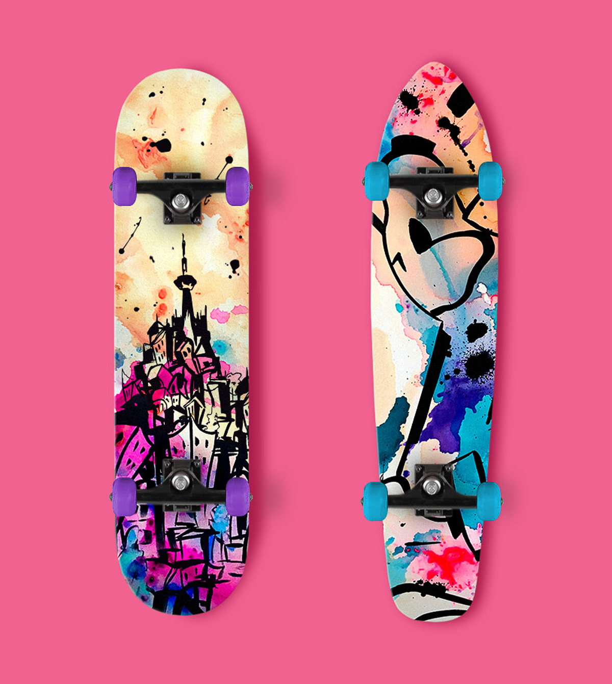 Tosh Jeffrey Skateboard Design by Furia