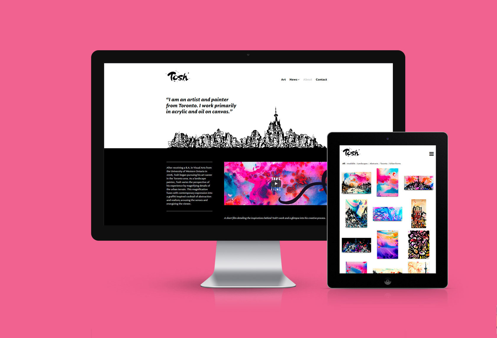 Tosh Jeffrey Website Design by Furia