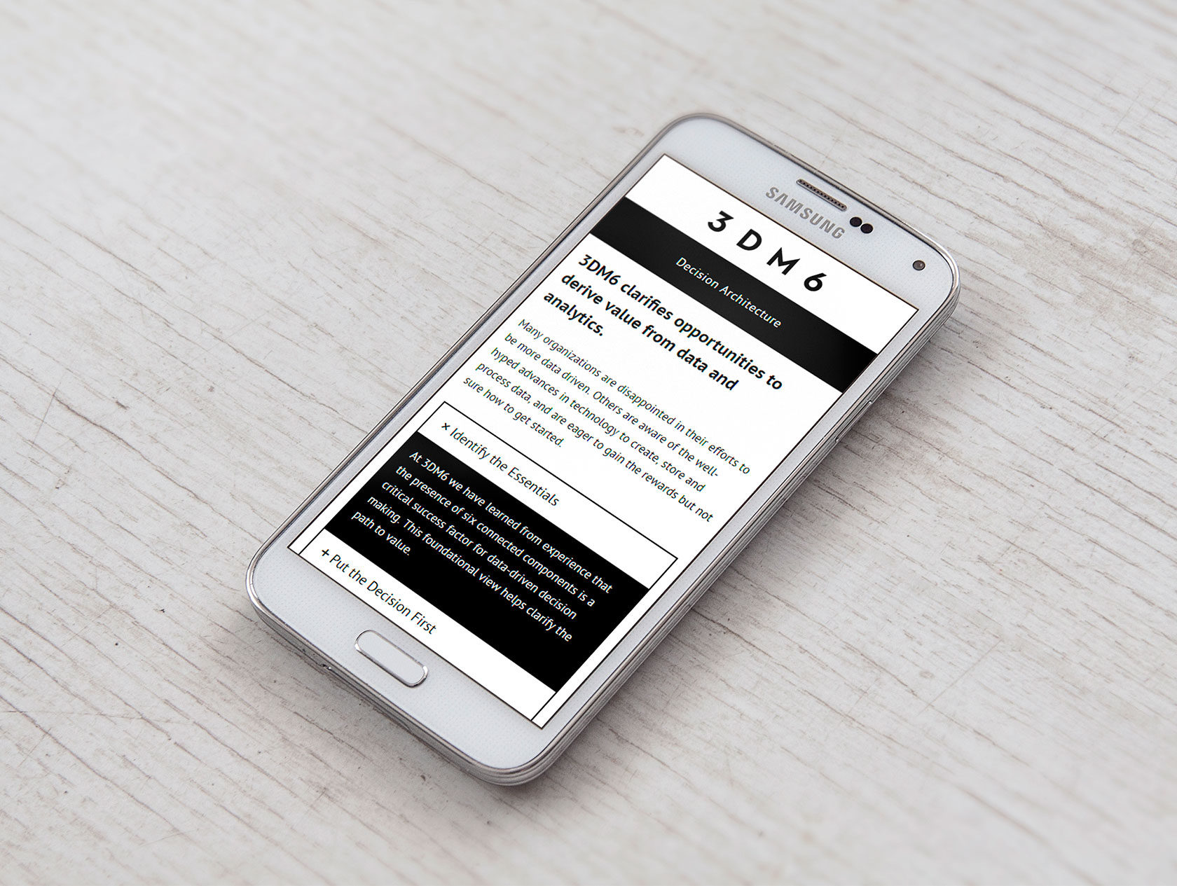 3DM6 Mobile Website Design by Furia