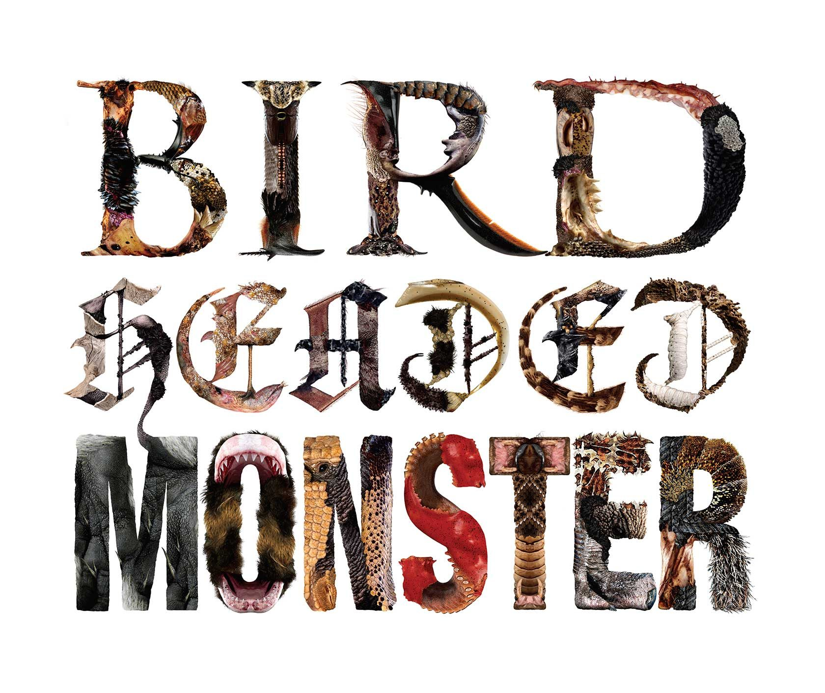 Bird Headed Monster Typography Design by Furia