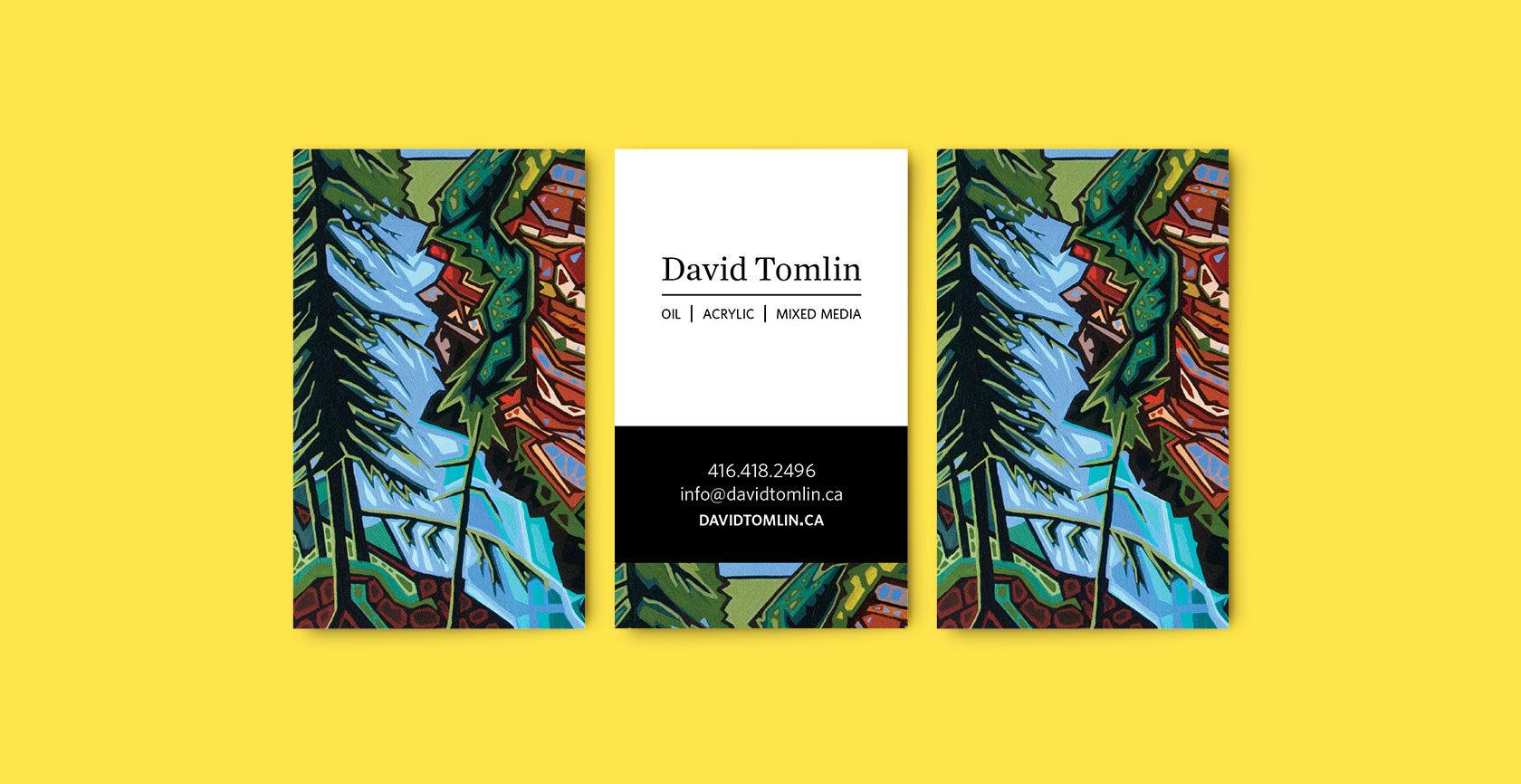 David Tomlin Business Cards Design by Furia
