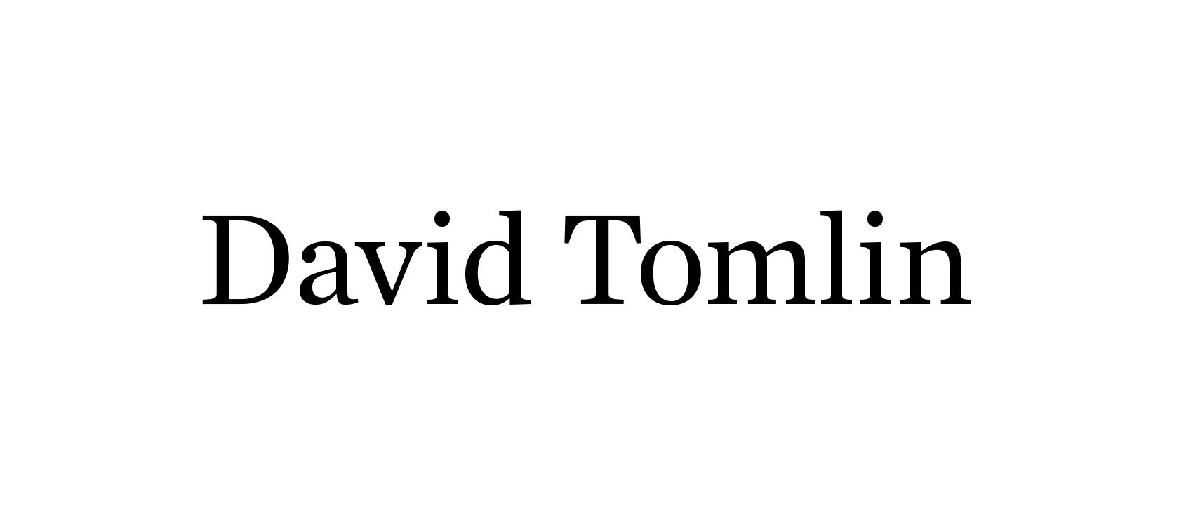 David Tomlin Logo Identity Design by Furia