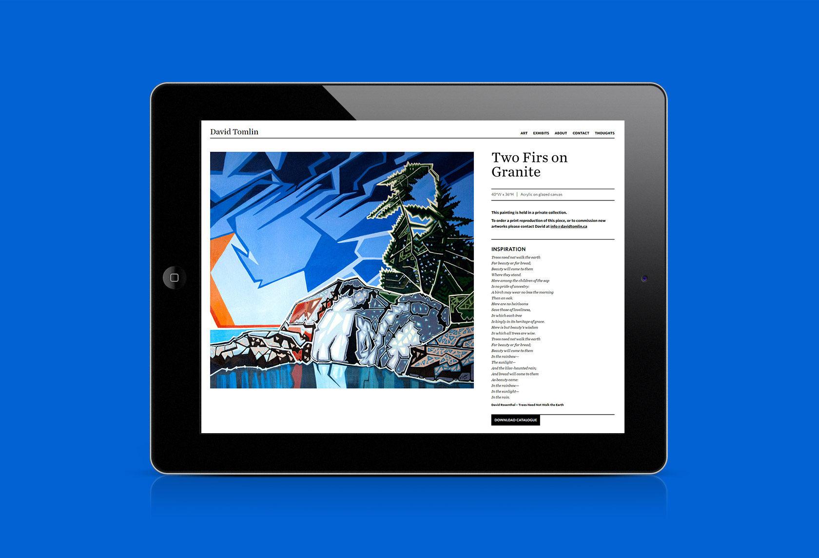 David Tomlin Website Development by Furia