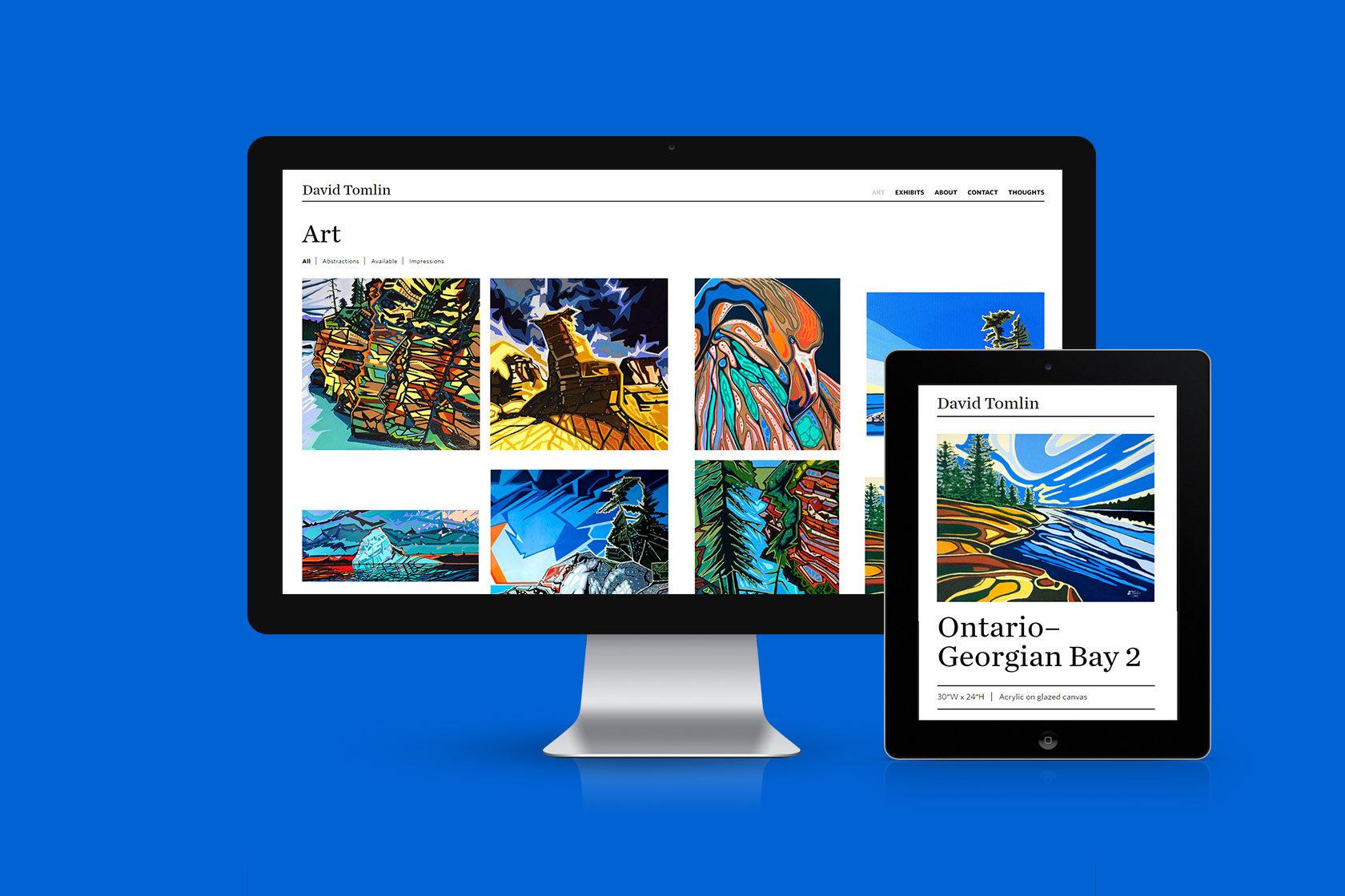 David Tomlin Website Design by Furia