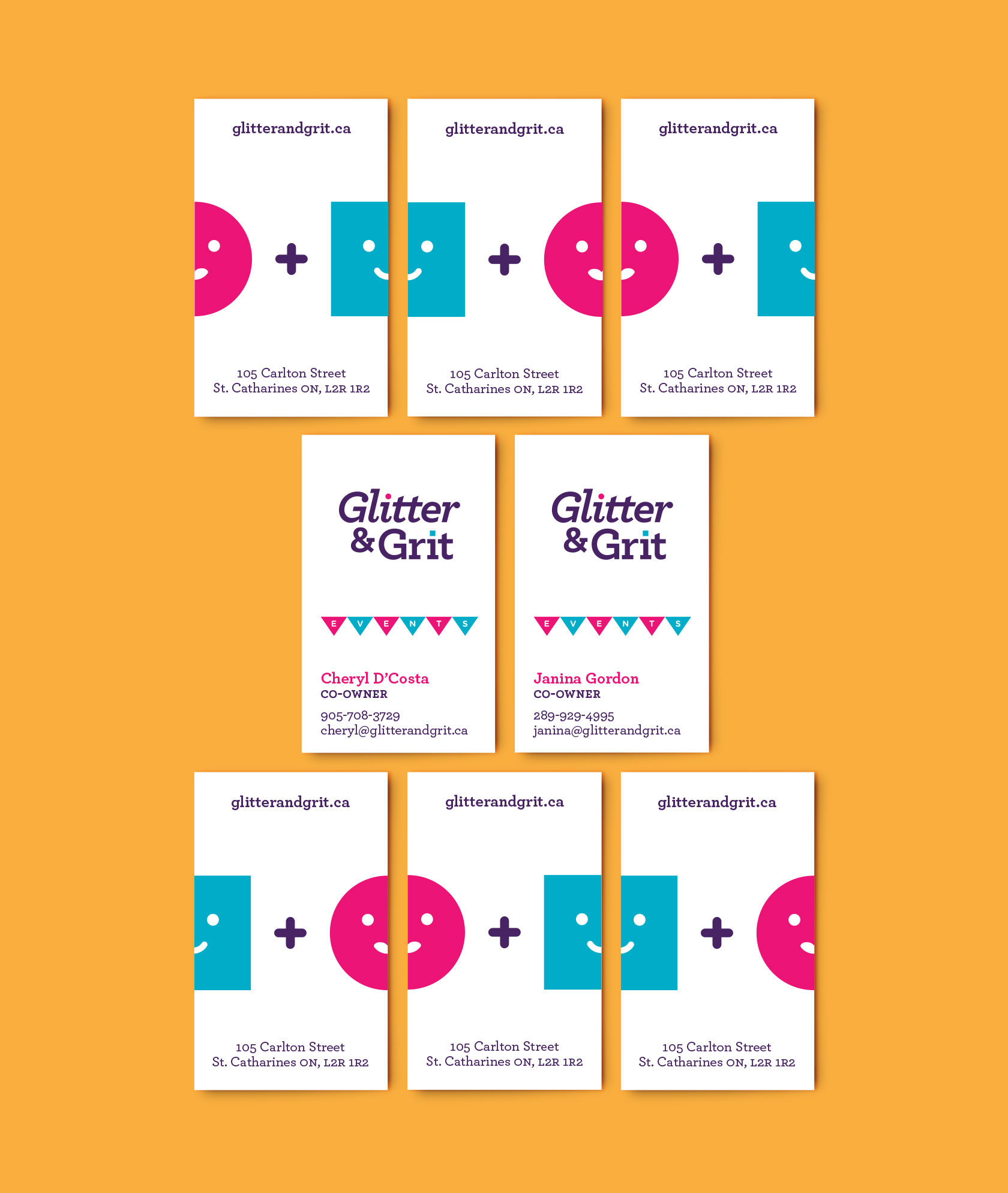 Glitter & Grit Business Card Designs by Furia