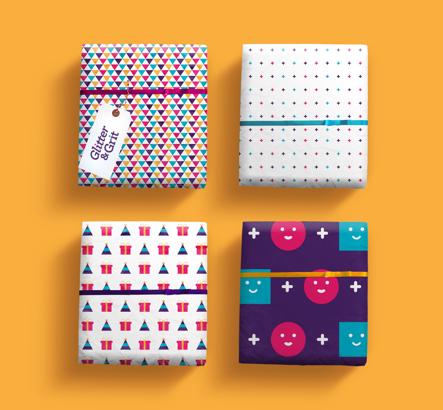 Glitter & Grit Wrapping Paper Design by Furia