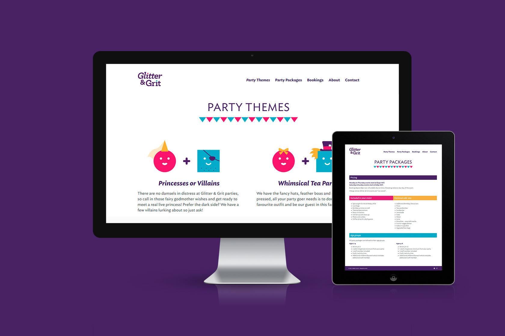 Glitter & Grit Website Development by Furia