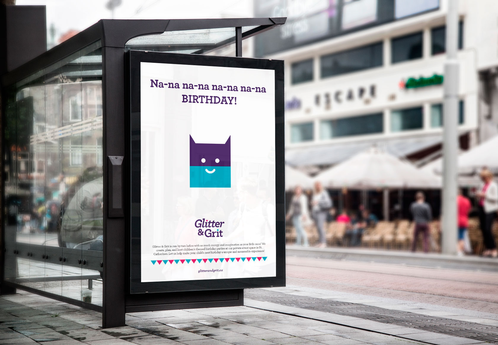 Glitter & Grit Outdoor Media Design by Furia