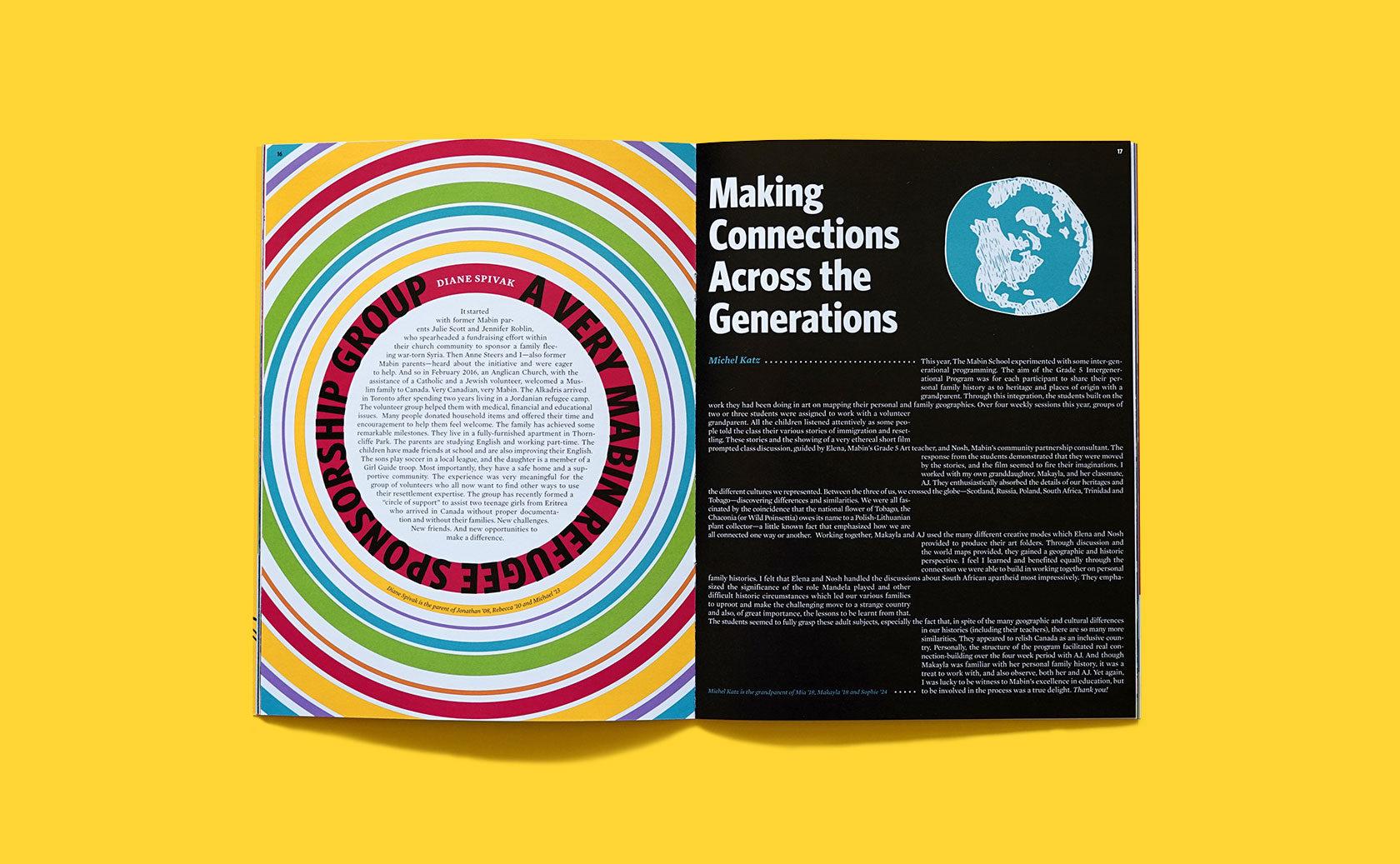 The Mabin School Magazine Editorial Design 1 by Furia