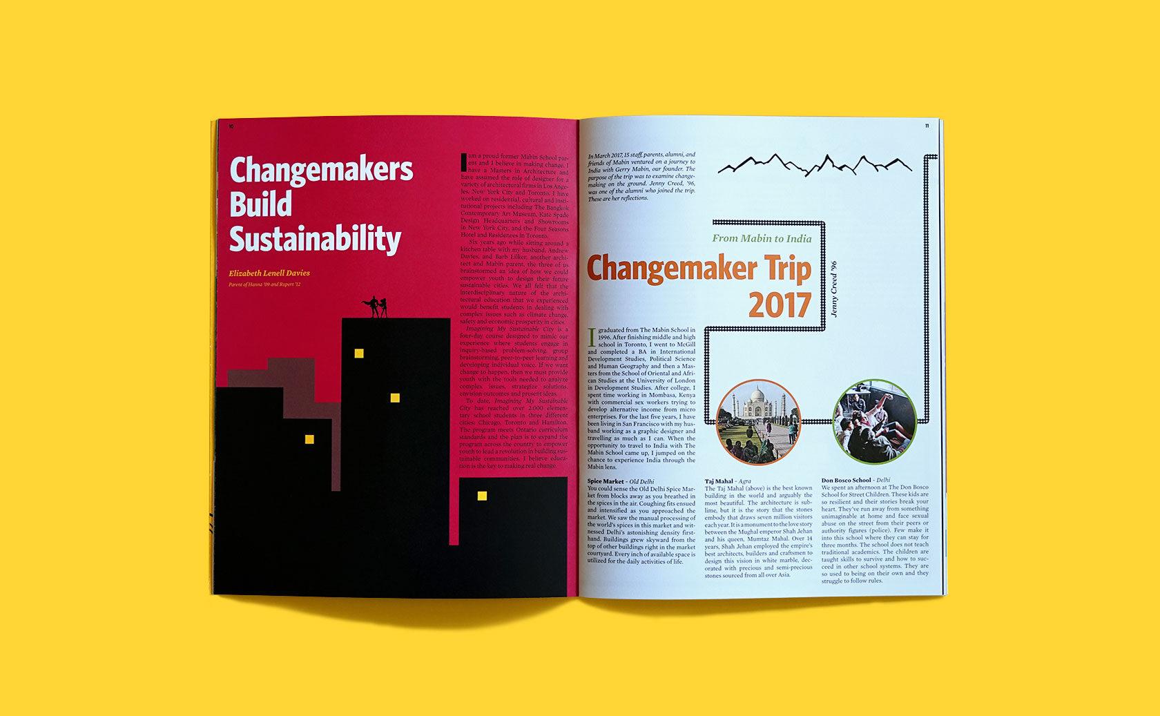 The Mabin School Magazine Editorial Design 3 by Furia
