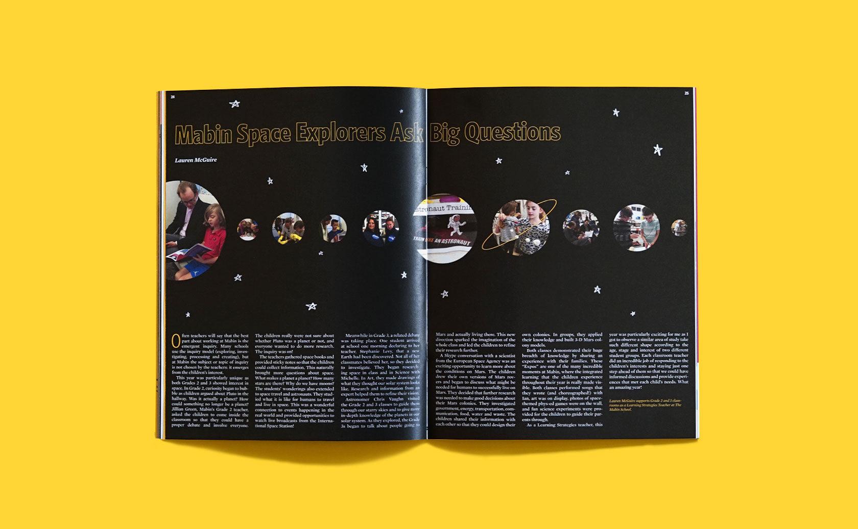 The Mabin School Magazine Editorial Design 4 by Furia