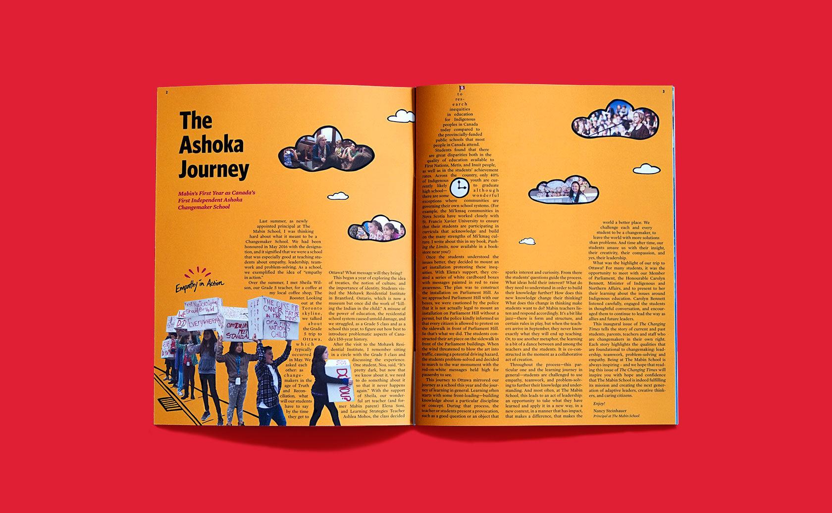 The Mabin School Magazine Editorial Design 5 by Furia