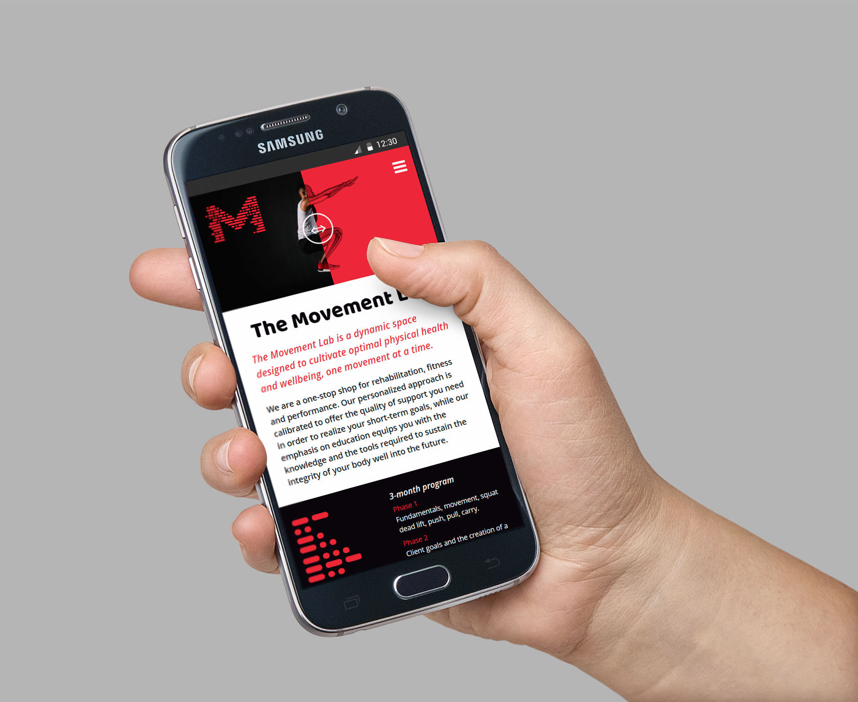 The Movement Lab Mobile Website Design by Furia