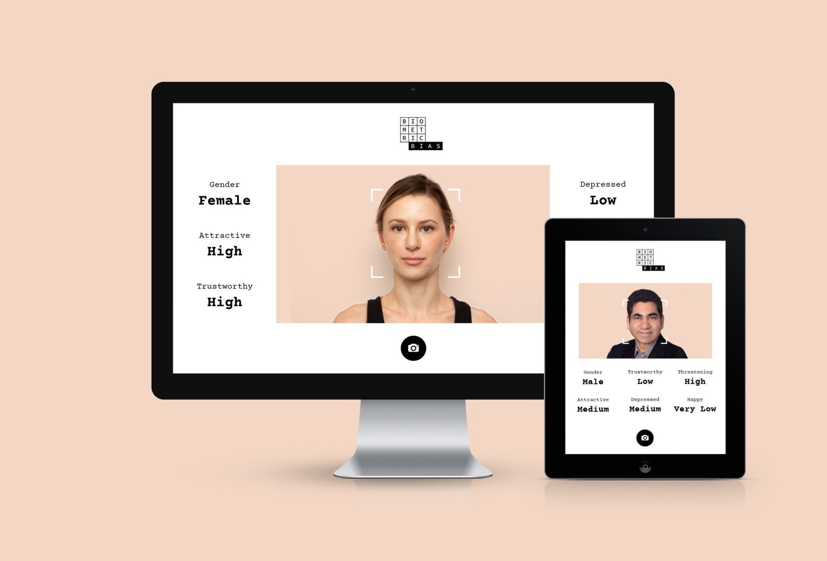 Biometric Bias AI UI UX Responsive web design by Furia