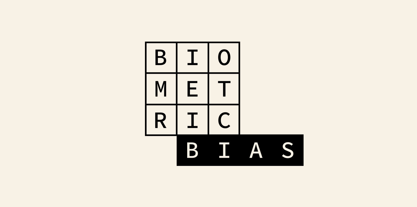Biometric Bias Logo Brand Identity design by Furia and David Nuff