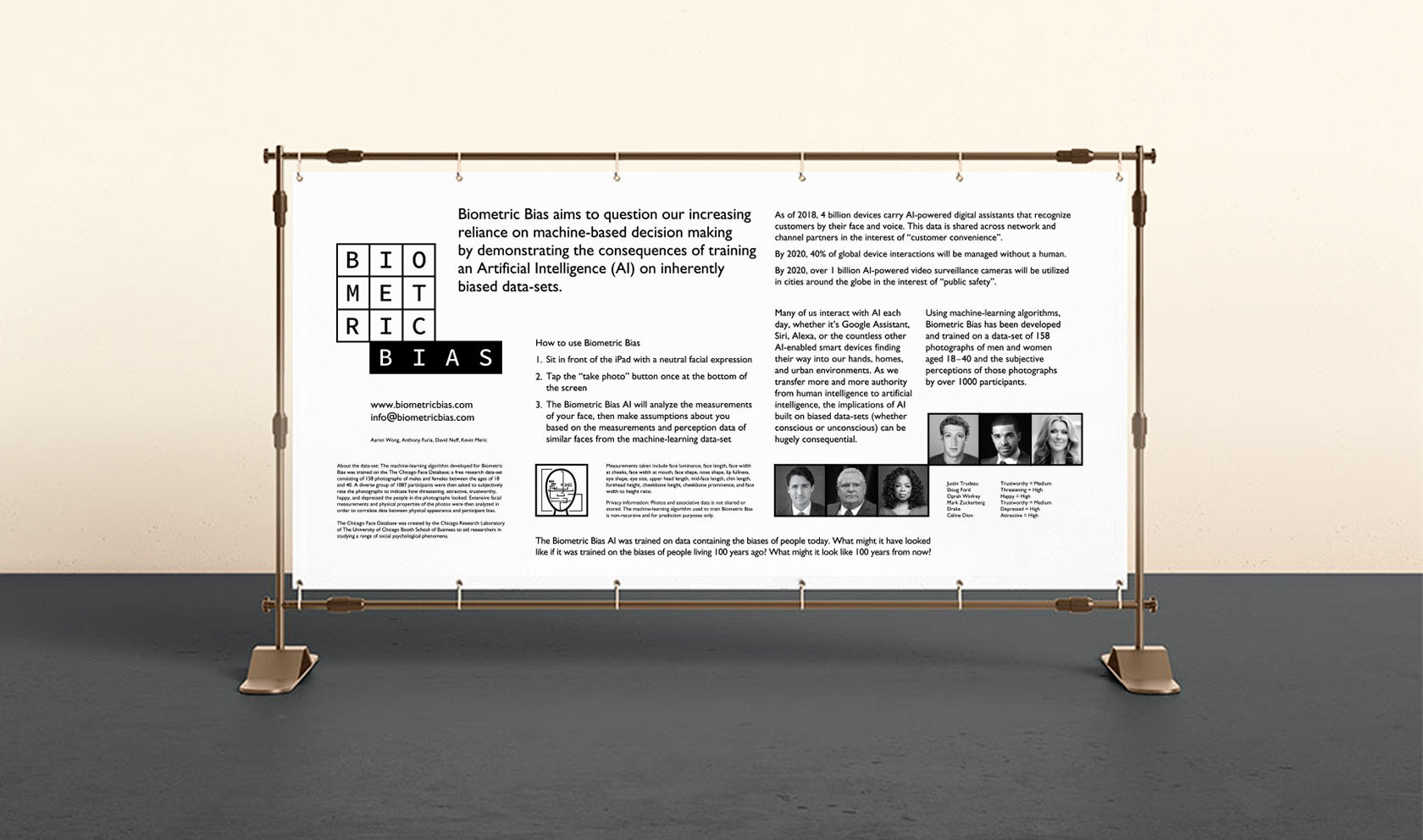 Biometric Bias Conference Signage design by Furia
