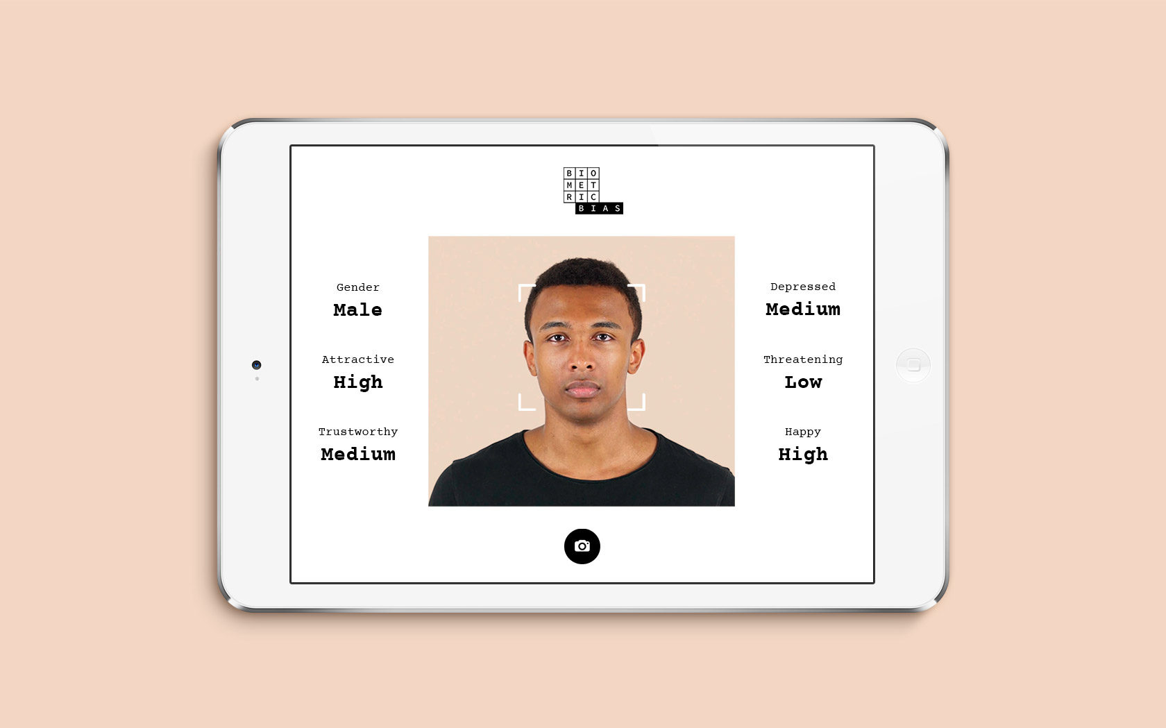 Biometric Bias Responsive Web App design by Furia
