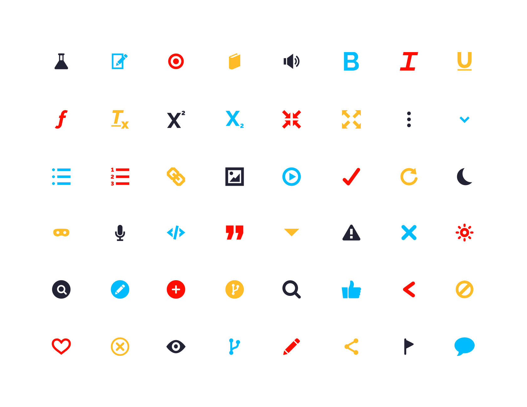 Team Study Website Icon Set Design by Furia