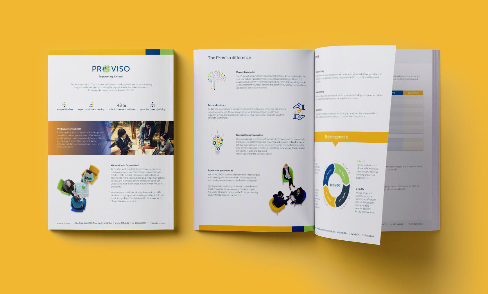 ProViso Consulting Sales Brochure Design by Furia