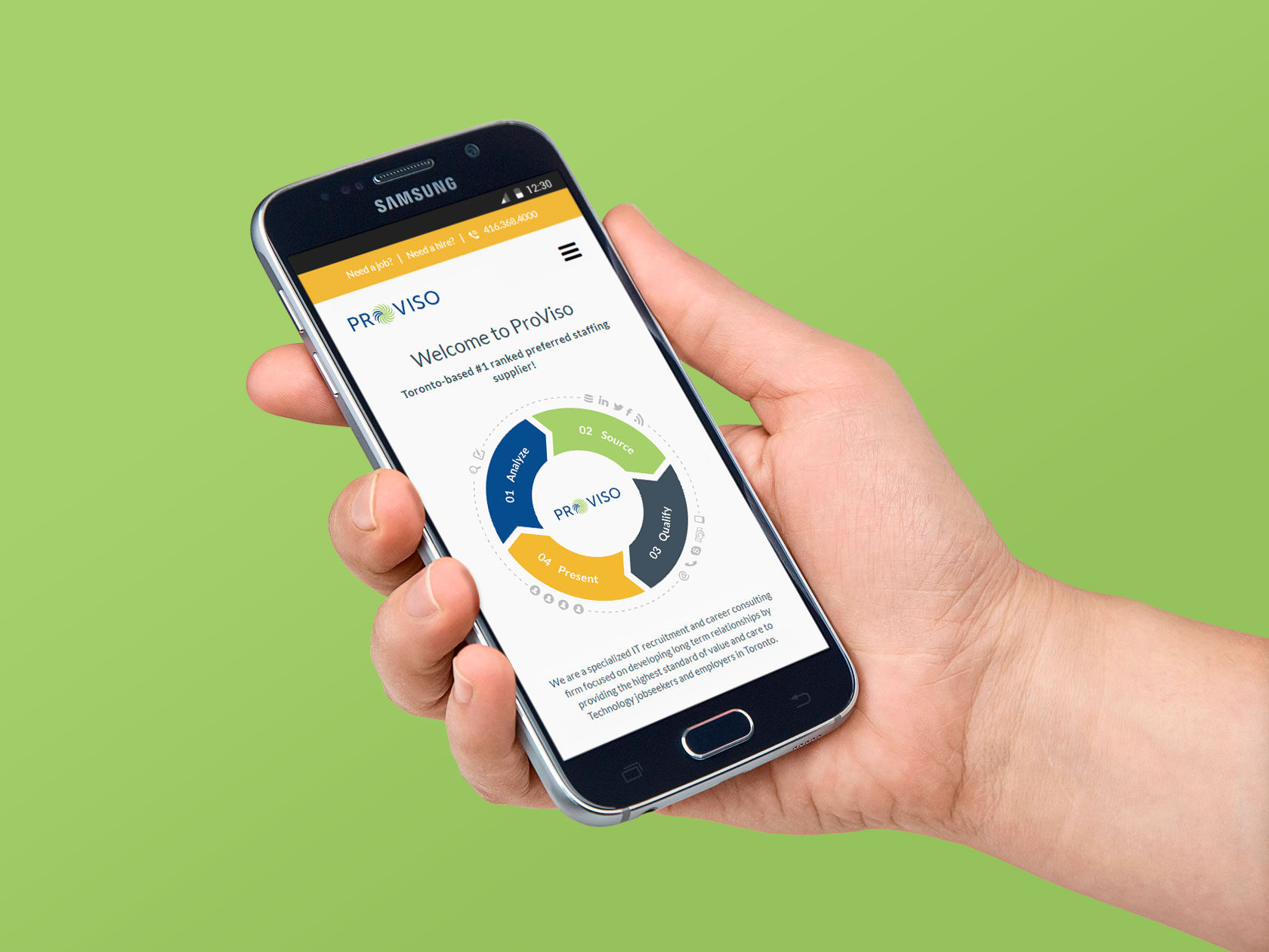 ProViso Consulting Mobile Website Design by Furia