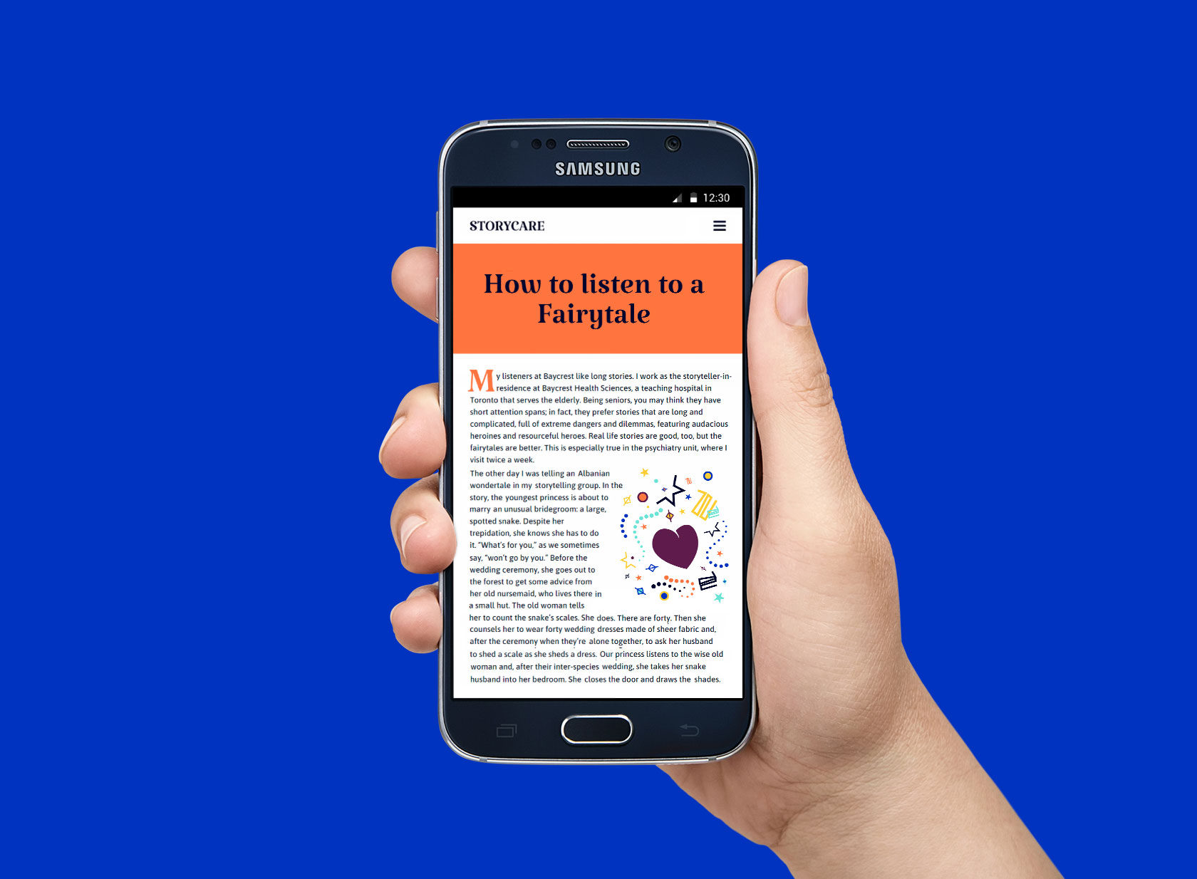 Storycare Mobile Website Design and Development by Furia