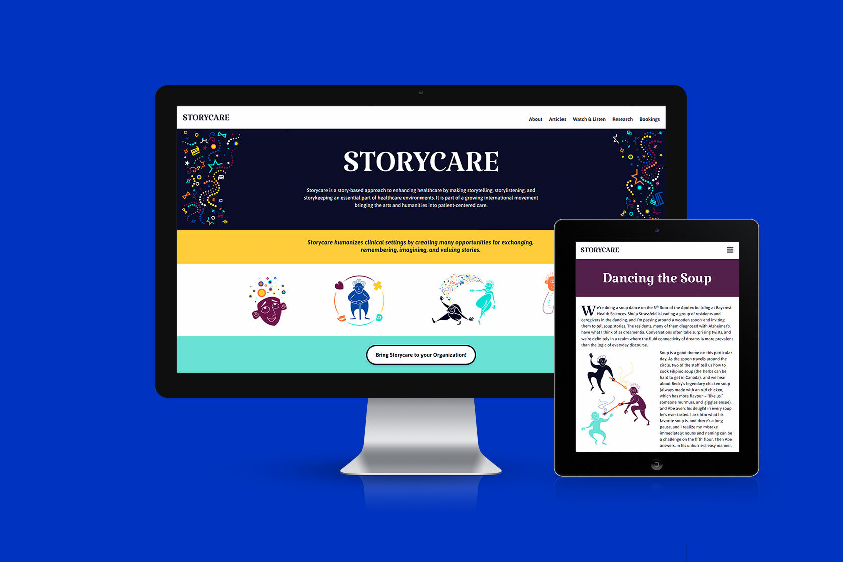 Storycare Website Design and Development by Furia
